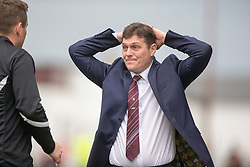 Linlithgow Rose manager Danny Smith.<br /> Linlithgow Rose 0 v 2 Raith Rovers, William Hill Scottish Cup Third Round game player today at Prestonfield.