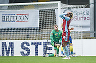 Devarn Green (14) of Scunthorpe United misses the target during the The FA Cup match between Scunthorpe United and Solihull Moors at the Sands Venue Stadium, Scunthorpe, England on 8 November 2020.