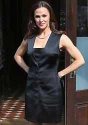 Jennifer Garner wearing a black dress in New York City. 12 Apr 2018 Pictured: Jennifer Garner. Photo credit: TOPGUN/MEGA TheMegaAgency.com +1 888 505 6342