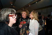 PHILLIPA PERRY; GRAYSON PERRY; ALISON MYNERS;, The Presentation of the Montblanc de la Culture Arts Patronage Award to Anthony D'Offay. Tate Modern. 16 April 2009<br /> PHILLIPA PERRY; GRAYSON PERRY; ALISON MYNERS;, The Presentation of the Montblanc de la Culture Arts Patronage Award to Anthony D'Offay. Tate Modern. 16 April 2009 *** Local Caption *** -DO NOT ARCHIVE-© Copyright Photograph by Dafydd Jones. 248 Clapham Rd. London SW9 0PZ. Tel 0207 820 0771. www.dafjones.com.