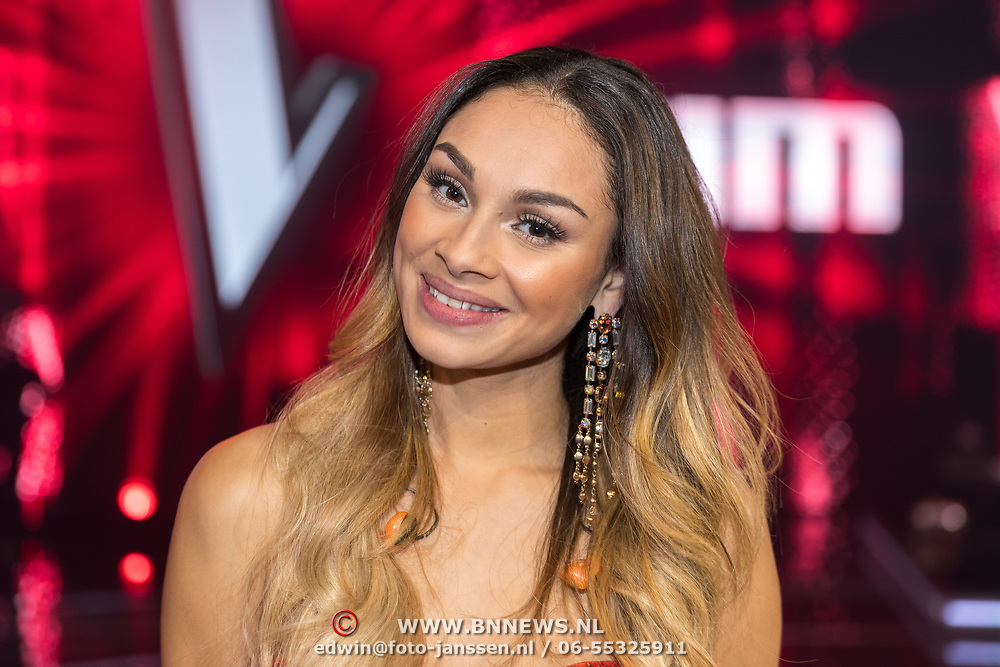 NLD/Hilversum/20180216 - Finale The voice of Holland 2018, Kimberly Maasdamme