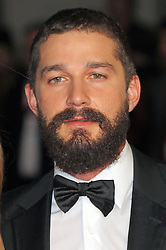 © Licensed to London News Pictures. 19/10/2014, UK. Shia LaBeouf, Fury - BFI London Film Festival closing film, Leicester Square, London UK, 19 October 2014. Photo credit : Richard Goldschmidt/Piqtured/LNP
