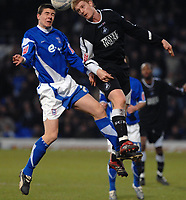 Photo: Ashley Pickering.<br />Ipswich Town v Swansea City. The FA Cup. 27/01/2007.<br />Ipswich's Owen Garvan (L) and Swansea's Alan Tate
