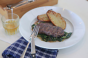 Char Grilled fillet beefsteak with grilled potato