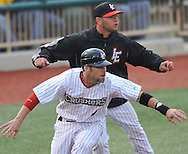 Joliet Slammers at Lake Erie Crushers in a Frontier League baseball game on May 27, 2011 at All Pro Freight Stadium in Avon, OH.