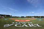 28 May 2016: A wide shot of Coleman Field before the game. The Nova Southeastern University Sharks played the Franklin Pierce University Ravens in Game 3 of the 2016 NCAA Division II College World Series  at Coleman Field at the USA Baseball National Training Complex in Cary, North Carolina. Nova Southeastern won the game 4-3 in twelve innings.
