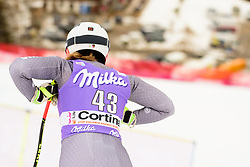 January 19, 2018 - Cortina D'Ampezzo, Dolimites, Italy - Anne-Sophie Barthet of France competes  during the Downhill race at the Cortina d'Ampezzo FIS World Cup in Cortina d'Ampezzo, Italy on January 19, 2018. (Credit Image: © Rok Rakun/Pacific Press via ZUMA Wire)