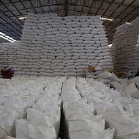 Inside one of the COMSA warehouses in Marcala, around $7 million of coffee waiting for export.