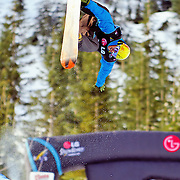 New Zealand National Snowboard Team member Ben Mates competes during qualifying at the 2009 LG Snowboard FIS World Cup at Cypress Mountain, British Columbia, on February 16th, 2009. Mates finished 25th in a field of 70.