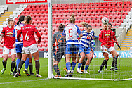 GOAL Reading midfielder Natasha Harding (11) on the line scores with a header to make it 1-0 during the FA Women's Super League match between Manchester United Women and Reading LFC at Leigh Sports Village, Leigh, United Kingdom on 7 February 2021.