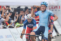 September 24, 2017 - Zhuhai, Guangdong, China - Maris Bogdanovics from Rietumu Banka Riga wins the fifth and final stage of the 2017 Tour of China 2, the 91.2km Zhuhai Hengqin Circuit Race. .On Sunday, 24 September 2017, in Hengqin district, Zhuhai City, Guangdong Province, China. (Credit Image: © Artur Widak/NurPhoto via ZUMA Press)