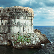 Fort Bokar (Zvjezdan) was built in 1463 by Michelozzo to protect the Pila Gate at the western fortified entrance of Dubrovnik, Croatia.<br />