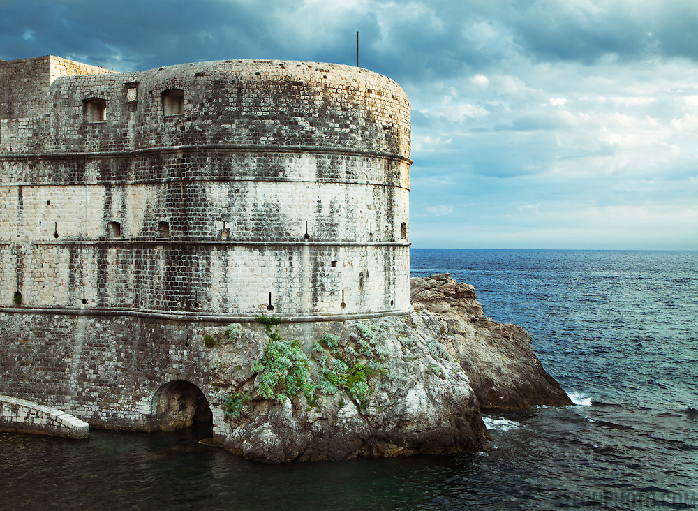 """Fort Bokar (Zvjezdan) was built in 1463 by Michelozzo to protect the Pila Gate at the western fortified entrance of Dubrovnik, Croatia.<br /> <br /> Dubrovnik serves as the official setting of """"King's Landing"""" from the popular TV show """"Game of Thrones""""."""