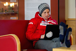 Astrid Uhrenholdt Jacobsen at press conference of Norwegian team one day before FIS Cross Country World Cup Rogla 2011, on December 16, 2011 at Hotel Planja, Rogla, Slovenia. (Photo By Vid Ponikvar / Sportida.com)