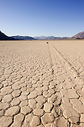 The Racetrack in Death Valley National Park is home to many rocks that mysteriously move across a flat playa with no human involvement.