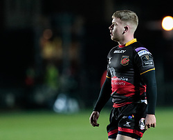 Dragons' Dan Babos<br /> <br /> Photographer Simon King/Replay Images<br /> <br /> Guinness Pro14 Round 10 - Dragons v Ulster - Friday 1st December 2017 - Rodney Parade - Newport<br /> <br /> World Copyright © 2017 Replay Images. All rights reserved. info@replayimages.co.uk - www.replayimages.co.uk