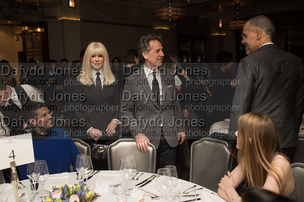 LINDA PRINCE; JONAS PRINCE, , Anish Kapoor and Lee Ufan preview dinner hosted by the Lisson Gallery after the opening on Bell St. The Connaught. London. 23 March 2015LINDA