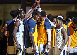Nov 24, 2018; Morgantown, WV, USA; The West Virginia Mountaineers warm up prior to their game against the Valparaiso Crusaders at WVU Coliseum. Mandatory Credit: Ben Queen-USA TODAY Sports