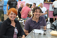 Comedian Mark Steel comes to Brighton's Big Screen Events match showing at Madeira Drive, to watch England and Russia at Stade Velodrome, Marseille, France on 11 June 2016. Photo by Stuart Butcher.