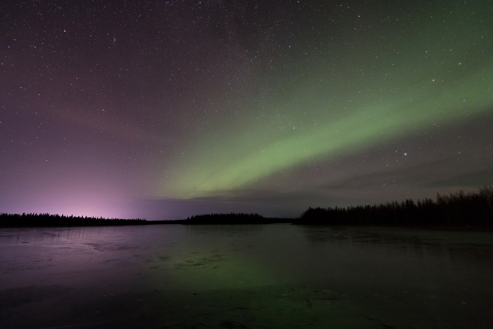 5:48am, October 29, 2019 Aurora at Chena Lakes in North Pole, Alaska