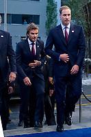 David Beckham und Prinz William of Wales auf dem Weg ins Messsezentrum (Andreas Meier/EQ Images)