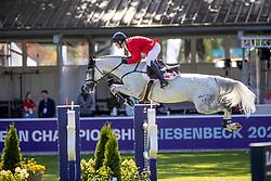 Balsiger Bryan, SUI, AK's Courage<br /> European Championship Riesenbeck 2021<br /> © Hippo Foto - Dirk Caremans<br /> 05/09/2021