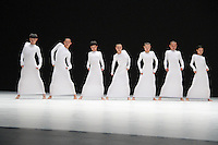 TAO Dance Theatre - Photocall for Chinese dance company's latest production, part of Dance Umbrella, that fuses choreography with landscapes of light in shows entitled 6 & 7, Sadler's Wells Theatre, London UK, 20 October 2014, Photo by Brett Cove