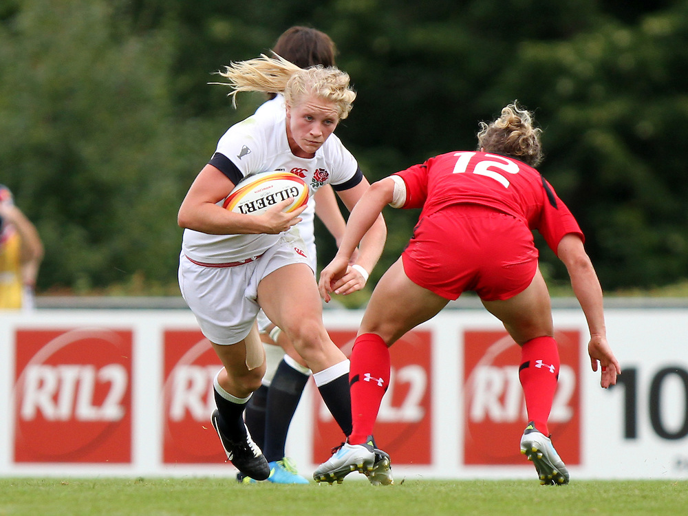 Alex Matthews in action. England v Canada Pool A match at WRWC 2014 at Centre National de Rugby, Marcoussis, France, on 9th August 2014