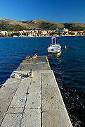 Stone jetty, island of Ciovo, near Trogir, Croatia