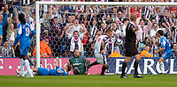 Photo: Leigh Quinnell.<br /> West Brom v Birmingham City. The Barclays Premiership.<br /> 27/08/2005.Geoff Horsfeild scores the equaliser for West Brom