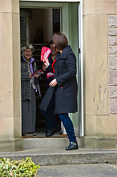 Pictured: Kezia Dugdale gets a warm welcome from a resident in Nile Grove<br /> <br /> Scottish Labour's Ian Murray and Scottish Labour leader Kezia Dugdale hit the general election campaign trail in Edinburgh today for the first campaign event of Mr Murray's re-election campaign for the Edinburgh South constituency.<br /> Ger Harley   EEm 21 April 2017
