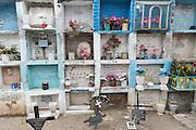 Family crypts in the Nuestra Señora de Guadalupe cemetery in San Miguel de Allende, Guanajuato, Mexico.