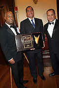 l to r: Noel Hankin, R. Donahue Peeples and Andrew Glaser at The 2009 NV Awards: A Salute to Urban Professionals sponsored by Hennessey held at The New York Stock Exchange on February 27, 2009 in New York City. ....