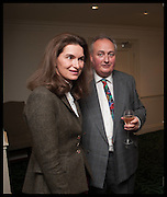 ANDREA DUBEUX WEBB; DUKE OF RUTLAND; VISCOUNT STORMONT, The hon Alexandra Foley hosts drinks to introduce ' Lady Foley Grand Tour' with special guest Julian Fellowes. the Sloane Club. Lower Sloane st. London. 14 May 2014