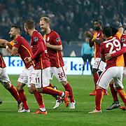 Galatasaray's players during their Turkish Super League soccer derby match Besiktas between Galatasaray at the Ataturk Olimpiyat stadium in Istanbul Turkey on Monday, 14 December 2015. Photo by Aykut AKICI/TURKPIX
