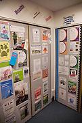 Community noticeboard in public library