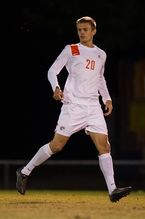 Oct 23, 2013; Morrow, GA, USA; Clayton State men's soccer player Cameron Grassmyer against Georgia Southwestern at CSU. CSU won 3-2. Photo by Kevin Liles/kevindliles.com