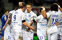 FOOTBALL - FRENCH CHAMPIONSHIP 2010/2011 - L1 - AJ AUXERRE v OGC NICE - 30/10/2010 - PHOTO GUY JEFFROY / DPPI - JOY AUXERRE