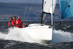 Peelport Clydeport, Largs Regatta Week 2014 Largs Sailing Club based at  Largs Yacht Haven with support from the Scottish Sailing Institute & Cumbrae.<br /> <br /> GBR283, TJIG IV, J Dryburgh/R Pilcher, CCC, J70
