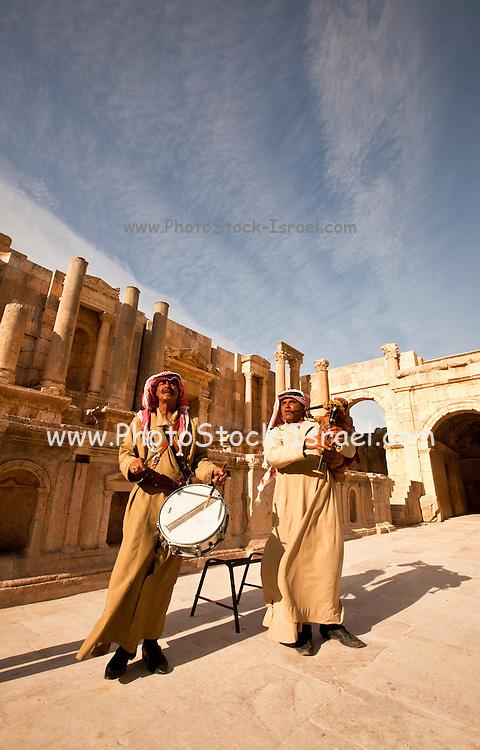 Ruins of the Roman city Gerasa near Jerash, Jordan