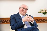 02 FEB 2021, BERLIN/GERMANY:<br /> Frank-Walter Steinmeier, Bundespraesident, waehrend einem Interview, Robert-Blum-Saal, Schloss Bellevue<br /> IMAGE: 20210202-01-050<br /> KEYWORDS: BUndespräsident