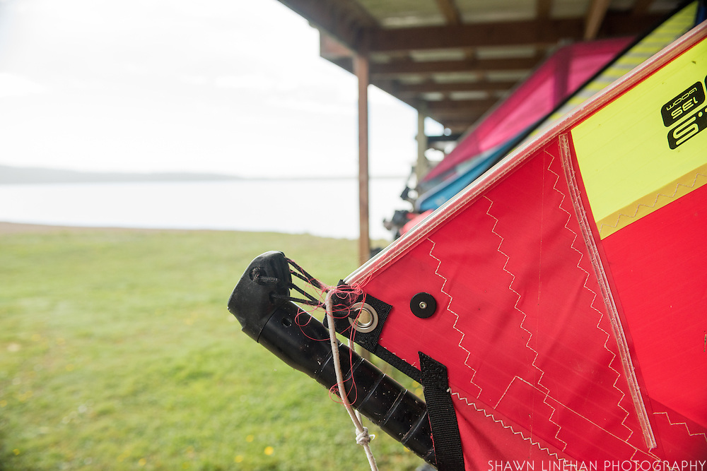 Just south of Bandon, Oregon on the coast is Floras Lake where ocean winds create steady breezes for kiteboarding and windsurfing. Visitors can rent gear and take classes with help from Will Brady of Floras Lake Windsurfing and Kiteboarding.