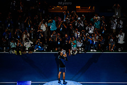 September 10, 2018 - Flushing Meadow, NY, U.S. - FLUSHING MEADOW, NY - SEPTEMBER 09: NOVAK DJOKOVIC (SRB) day fourteen of the 2018 US Open on September 09, 2018, at Billie Jean King National Tennis Center in Flushing Meadow, NY. (Photo by Chaz Niell/Icon Sportswire) (Credit Image: © Chaz Niell/Icon SMI via ZUMA Press)
