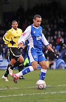 Photo: Tony Oudot/Richard Lane Photography. Gillingham v Burton Albion. FA Cup 2nd Round. 28/11/2009. <br /> Gillingham goalscorer Curtis Weston