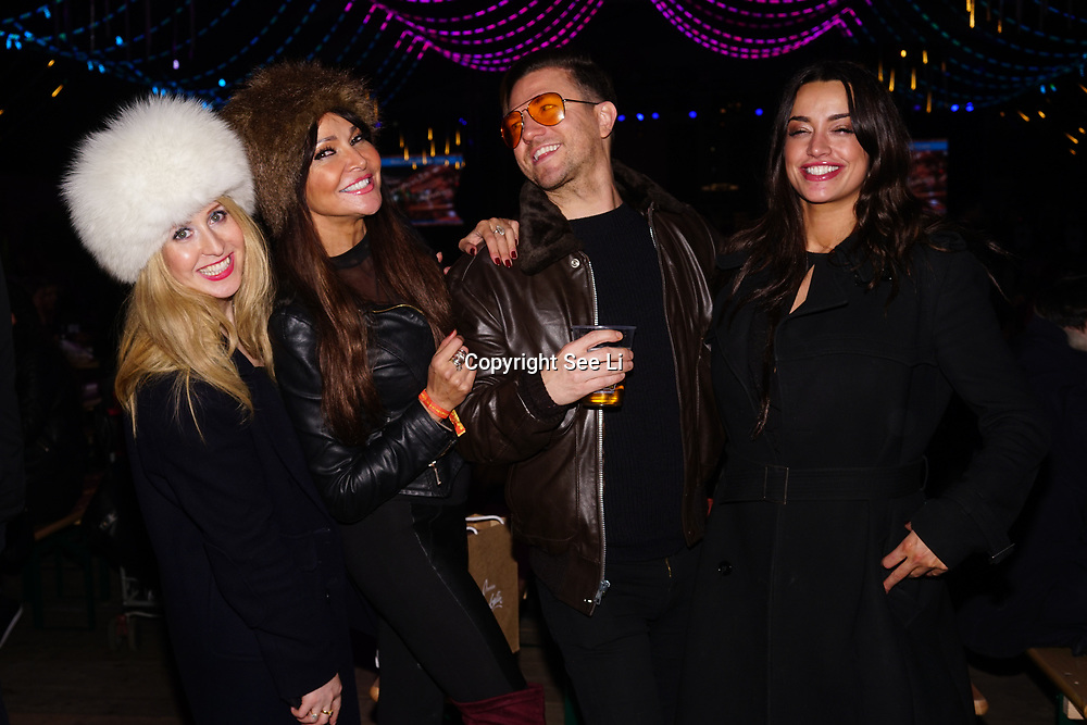 London, England, UK. 16th November 2017. A host of celebrities and invited attend the Vip Launch of Hyde Park Winter Wonderland for a preview. tomorrow 17th November 2017 throughout January 2018 is opening for the public