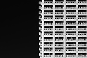 Abstract image of a high rise apartment building in Ikebukuro, Tokyo, Japan. Friday January 15th 2016