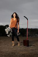 8 November 2012:  Amanda Elliott photographed for The Hockey News NHL hockey wives article.