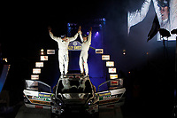 MOTORSPORT - WORLD RALLY CHAMPIONSHIP 2011 - RALLY SWEDEN / RALLYE DE SUEDE - 10 TO 13/02/2011 - KARLSTAD (SWE) - PHOTO : FRANCOIS BAUDIN /  DPPI - <br /> OSTBERG MADS - FORD  FIESTA RS WRC - AMBIANCE PORTRAIT PODIUM