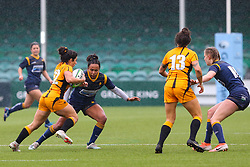 Jade Shekells of Worcester Warriors Women prepares to tackle Kate Alder – of Wasps FC Ladies - Mandatory by-line: Nick Browning/JMP - 24/10/2020 - RUGBY - Sixways Stadium - Worcester, England - Worcester Warriors Women v Wasps FC Ladies - Allianz Premier 15s