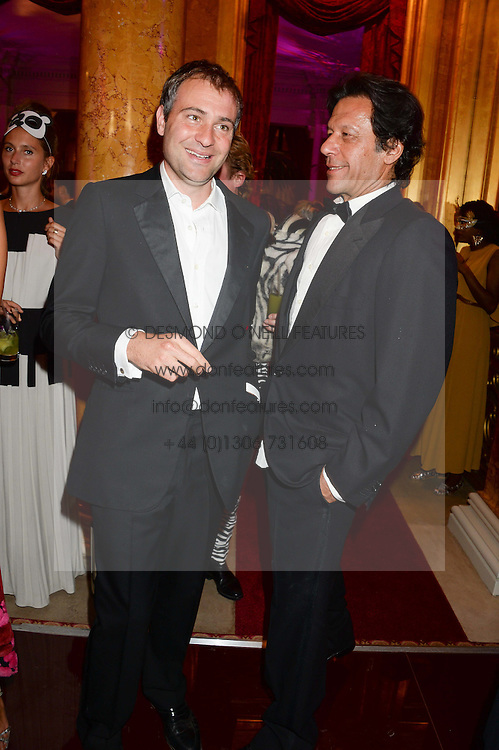 Left to right, BEN GOLDSMITH and IMRAN KHAN at The Animal Ball in aid of The Elephant Family held at Lancaster House, London on 9th July 2013.